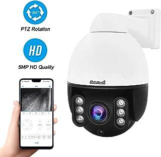 Cámara Domo IP PTZ PoE para Exteriores cámara de vigilancia de Seguridad HD 5MP H.265 con Zoom óptico 4X versión IR Night Compatible con ONVIF 2.4