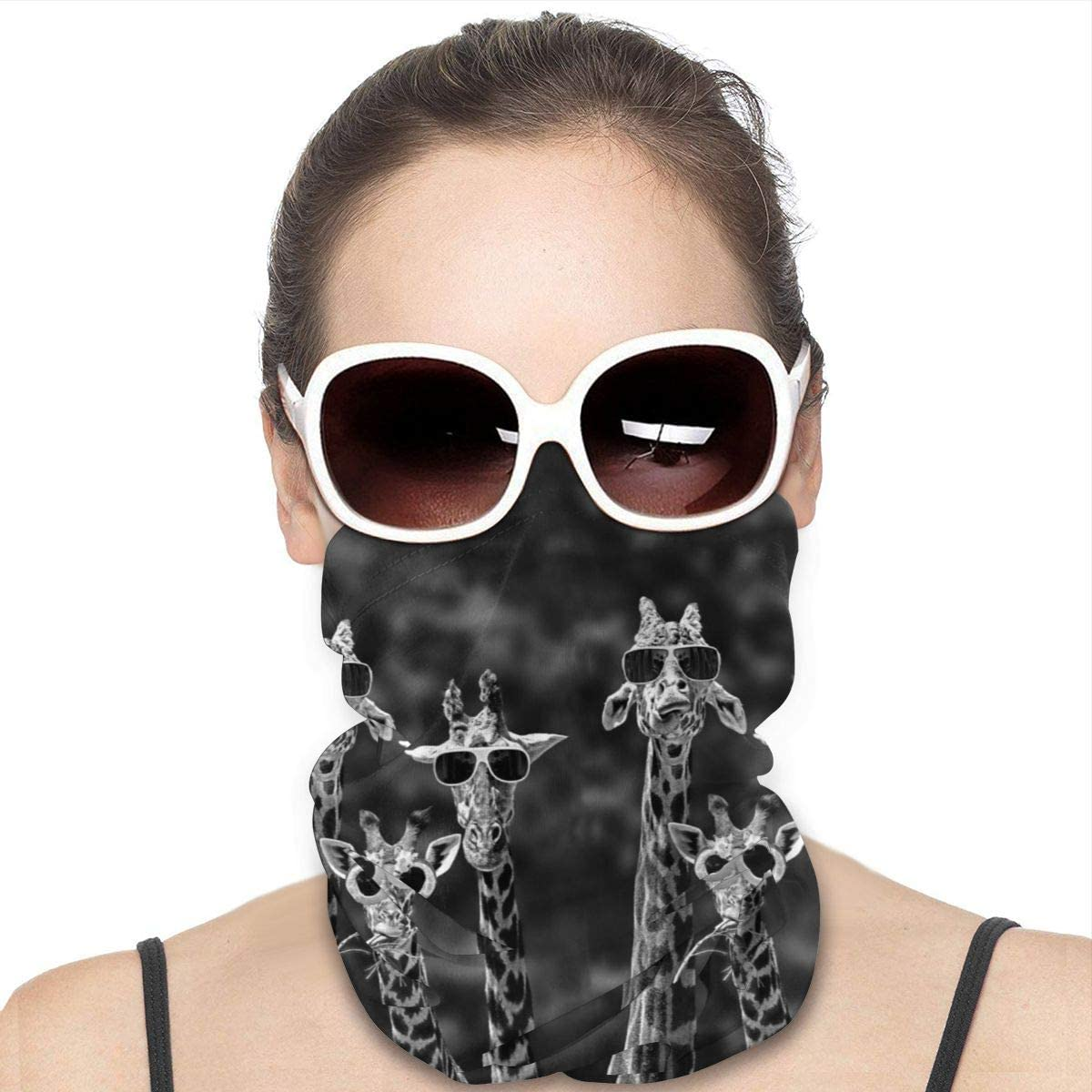JinSPef Motorcycle Masks for Men - All Seeing Eye Indian Fatima Hamsa Hand Motorcycle Mask Neck Gaiter Neck Gaiter Head Bands Neck Gaiters for Men Headscarf Face Mask Bandana