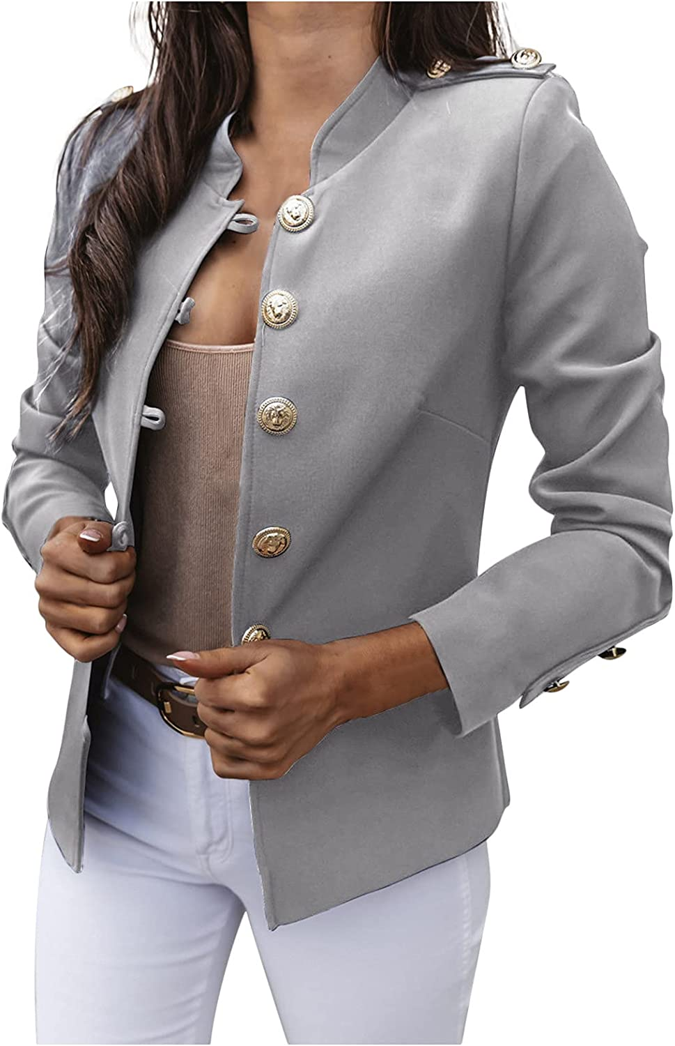 famous ameIAEA Womens Casual Blazers Open Long Front Work Office Sleeve 2021 model