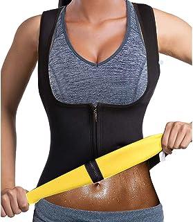 Kvinnor midja träningsväst, het bantning bastu väst smal korsett neopren bastu linne dragkedja kontroll kroppsformare för ...