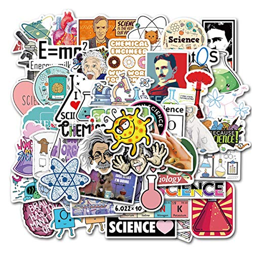 Meet Holiday Funny Science Laboratory Stickers for Student Laptop Chemistry Lab Stickers Car Motorcycle Bicycle Luggage Helmet Graffiti Patches Skateboard Stickers (Science Laboratory)
