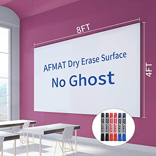 2021 Dry Erase Whiteboard Paper, Large White Board Stickers for Wall, 8x4ft Dry Erase Paper Roll with wholesale Adhesive Backing, Perfect Replacement for White Board, No Ghost online After 60 Days, 6 Much Better Markers online