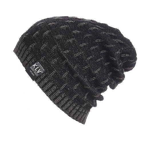 0325d05e14b Unisex Winter Beanie Hat Scarf Set Warm Knit Hat Thick