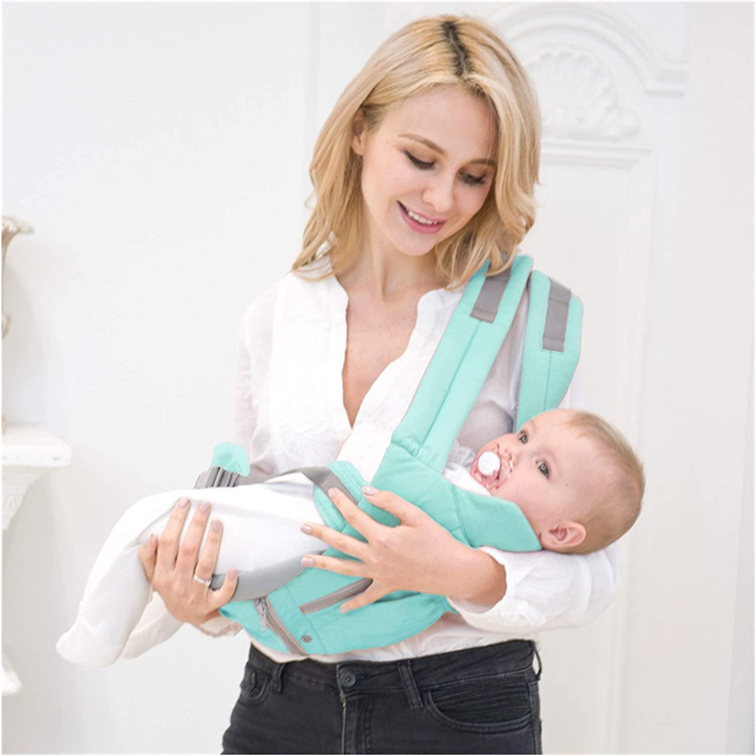 Color : 3013 Orange LHHJPULS Ergonomic Baby Carrier Infant Kid Baby Hipseat Sling Front Facing Kangaroo Baby Wrap Carrier for Baby Travel 0-36 Months
