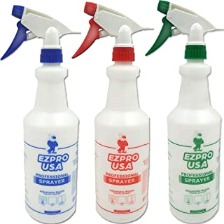 EZPRO USA Spray Bottle Empty with Measurements for Cleaning Solutions 1 Liter, Spray Bottle 32oz, Professional Industrial ...