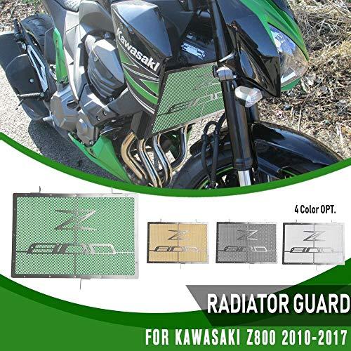 XX eCommerce Motocicleta Moto Radiador Protector Tanque de agua Refrigerante Parrilla Rejilla Malla Protector de red for 2014-2017 K-a-w-a-s-a-k-i Z800 Z 800 2015 2016 (Negro)