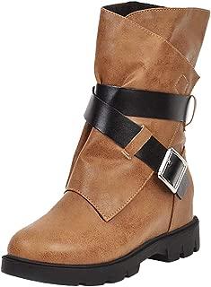 Melady Women Classic Martin Booties Flat Zipper