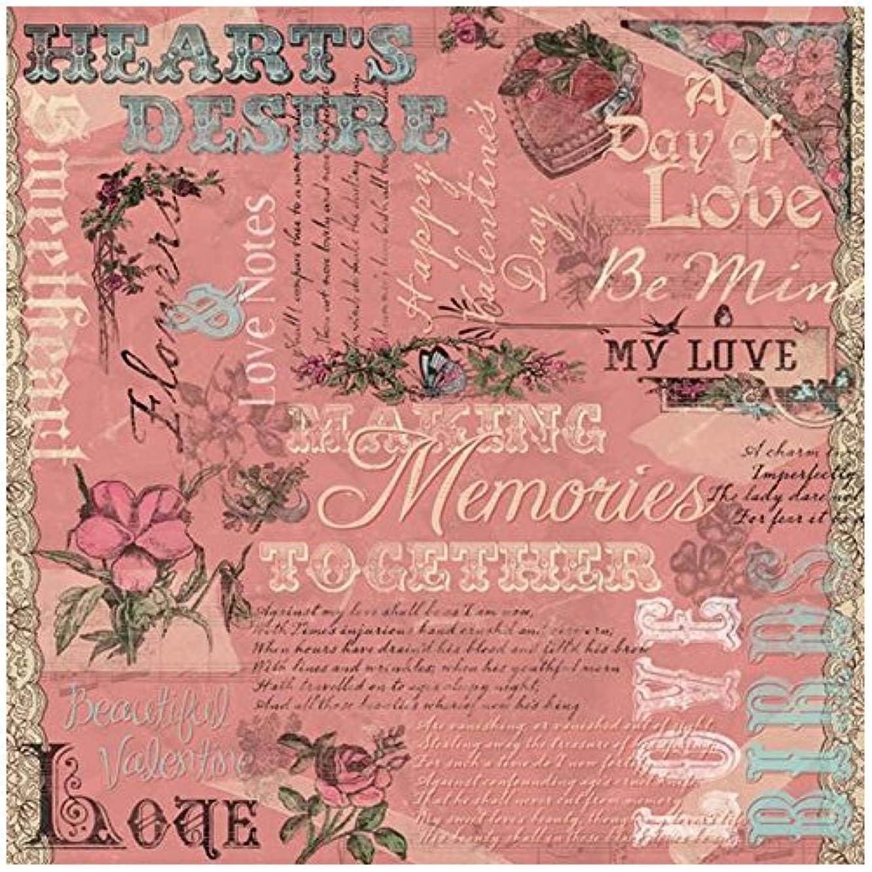 KAREN FOSTER Design Scrapbooking Paper, 25 Sheets, Hearts Desire Collage, 12 x 12