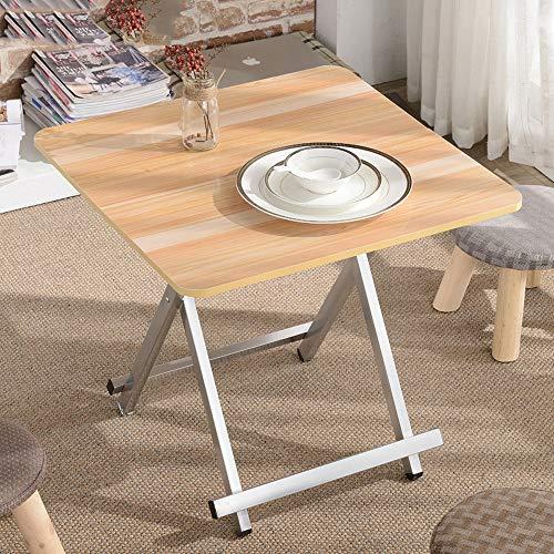 HX Table Pliante Maison Table À Manger Table À Manger Simple 4 Personnes Table À Manger Portable Extérieur Table Basse Carrée A+ (Couleur : D)