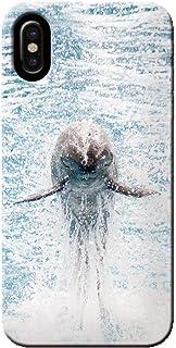 OPPO Find X2 Pro OPG01 ケース 海 サマー ジャンプするイルカ 薄型 スマホ ハードケース 海 A オッポ C000104_01