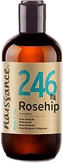 Naissance Aceite Vegetal de Rosa Mosqueta Rubiginosa n. º 246 – 250ml - Puro natural vegano sin hexano y no OGM - Hidra...