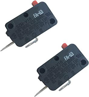 LONYE SZM-V16-FA-63 Microwave Door Switch for LG GE Starion Microwave Oven 3B73362F(Pack of 2)