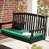 Coral Coast Coral Coast Pleasant Bay Curved Back Painted Porch Swing, Black, Painted Wood, 4 ft.