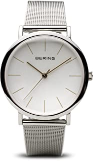 BERING Time 13436-001 Classic Collection Watch with Mesh Band and Scratch Resistant Sapphire Crystal. Designed in Denmark.