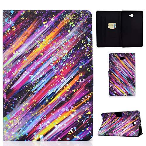 """Auslbin Custodia per Samsung Galaxy Tab A6 10.1"""" 2016(SM-T580/T585),Cover con Porta Carte Portafogli slim in Pelle PU con Funzione di Supporto,Auto Svegliati/Sonno,Meteora"""