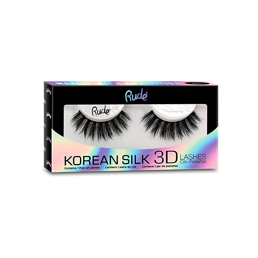 信者電信ところで(6 Pack) RUDE? Korean Silk 3D Lashes - Psychedelic (並行輸入品)