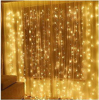 Twinkle Star 300 LED Window Curtain String Lights Ramadan Gift Wedding Party Garden Bedroom Indoor Outdoor Wall Decoration...