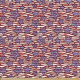 ABAKUHAUS 4. Juli Stoff als Meterware, Flagge von Amerika,