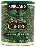 Kirkland Signature 100% Colombian Dark Roast Decaffeinated Ground Coffee, 3 Pound (Pack of 2)