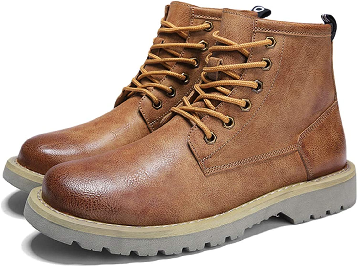 Yra Men High Top Martin Boots Non-slip Casual Work shoes For Cowboy Boots Lace Ups Male Hiking Motorcycle Boots