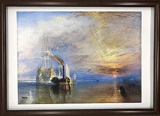 ジョゼフ・マロード・ウィリアム・ターナー 解体されるために最後の停泊地に曳かれてゆく戦艦テメレール号 A4 ポスター 輸送用 額付き ホビー おもちゃ 名画 絵画 グッズ 船