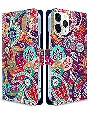 iitrust Galaxy A51 5G ケース 手帳型 ギャラクシーA51ケース galaxy a51ケース SC-54Aケース手帳型 耐衝撃 花柄 スマホケース 民族柄テイスト フラワー ファッション シンプル