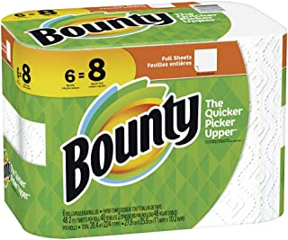 Bounty Paper Towels, White, 6 Big Rolls