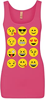 Emoji Funny Tank Top Smiley Face Texting Top