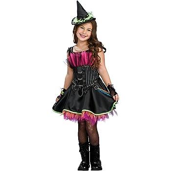 Disfraz de Bruja Rockera con corset para niña, infantil 8-10 años ...