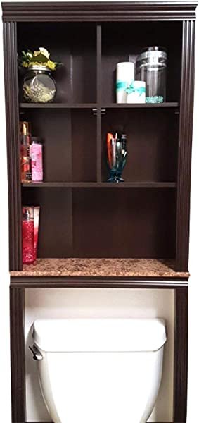 Over Toilet Storage Cabinet Bathroom Storage Tall Shelving Unit Bathroom Organizer Free Standing Space Saver Bathroom Shelf With Faux Granite Finish Toilet Rack Wooden Above Toilet EBook By TD
