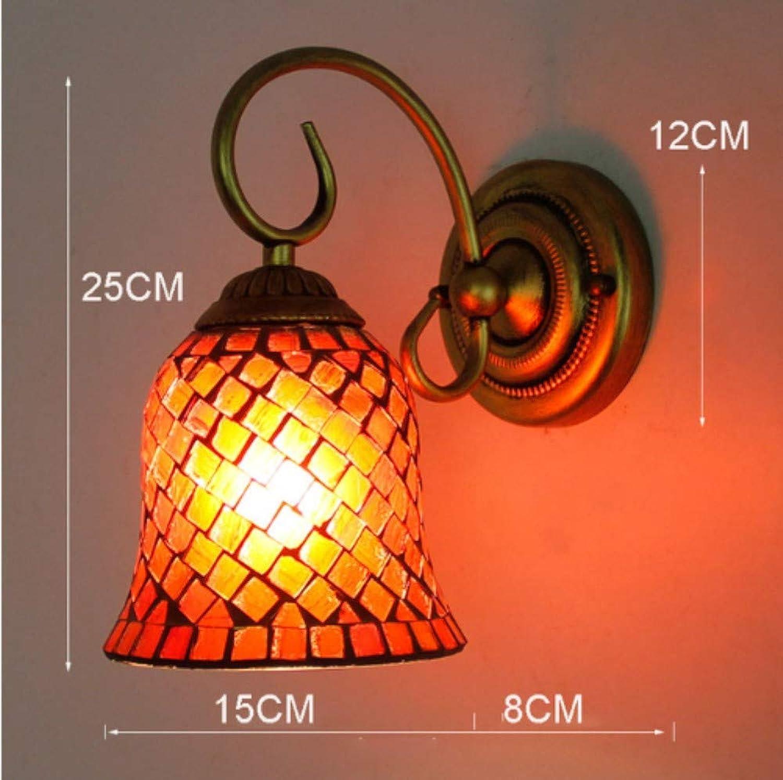 Leichte Buntglas-rustikale Wandlampen-Schlafzimmer-Gang-Badezimmer-Spiegel-vordere Wandlampe B07QC6Y3SW | Vollständige Spezifikation