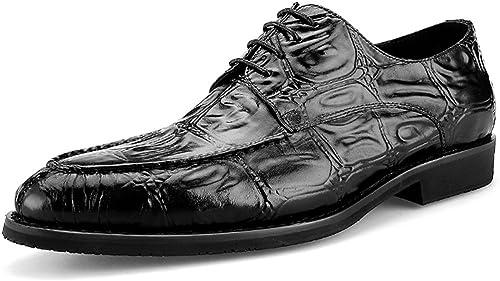 zapatos Clásicos de Piel para Hombre Hombre zapatos para hombres Negocio Ropa Formal Estilo británico Diario Casual (Color   negro, Tamaño   EU38 UK5.5)