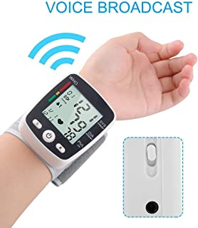 Wrist Blood Pressure Monitor for Home,Digital Automatic Home Use Measure Blood Pressure and Heart Rate Pulse with Wide-Range Cuff,2 Users Memories