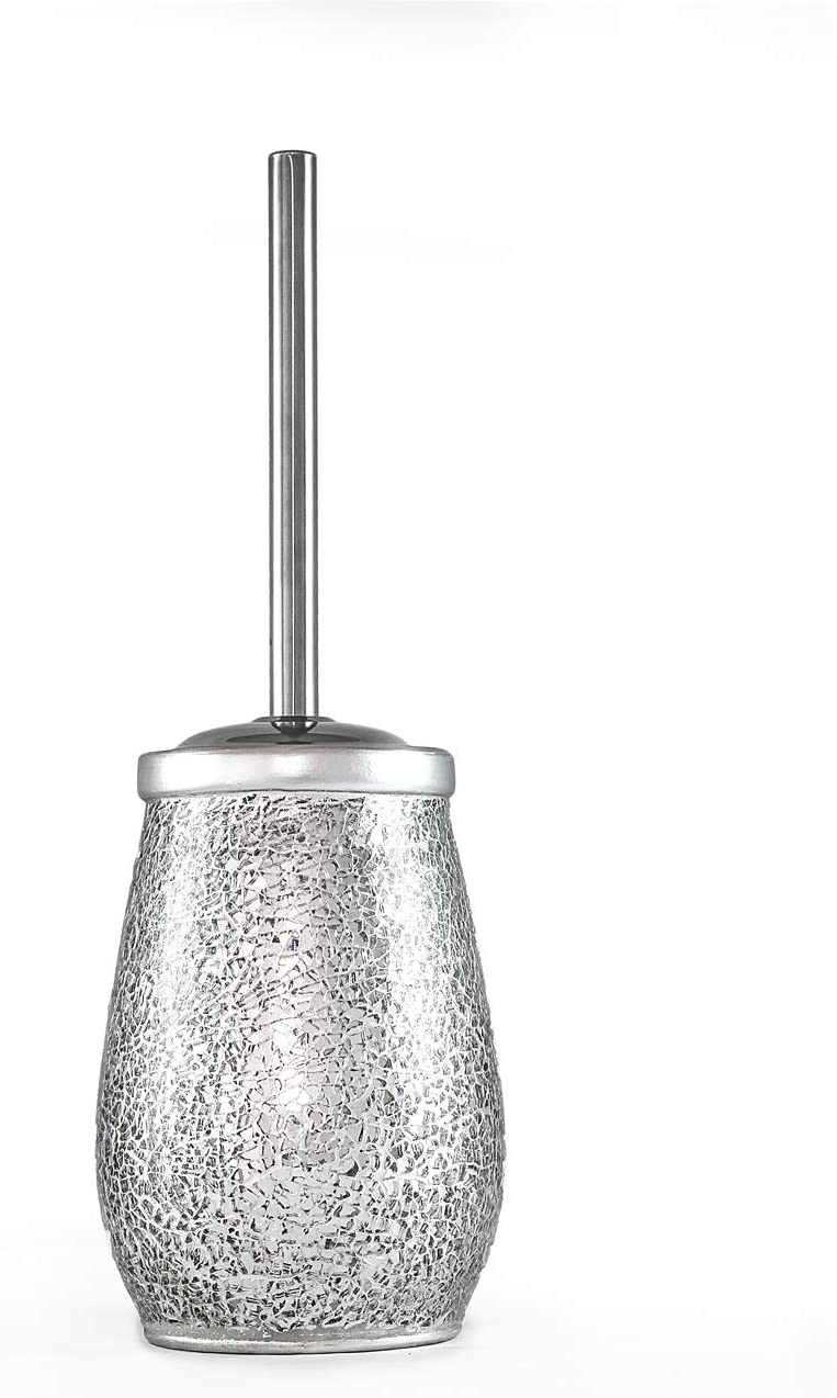 Deblanch Jabonera Cer/ámica//Cristal Plata//Cromo 13 x 9.5 x 4 cm