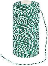 Groene en witte bakkers Twine - 328 ft
