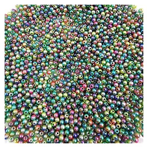 WEIMEIDA Yklz703 1000pcs Bead con Agujero Multicolor plástico abs sueldo Perlas de Perlas para el Libro de Recuerdos de artesanía DIY joyería artesanía Hecha a Mano Regalo (Color : C3)