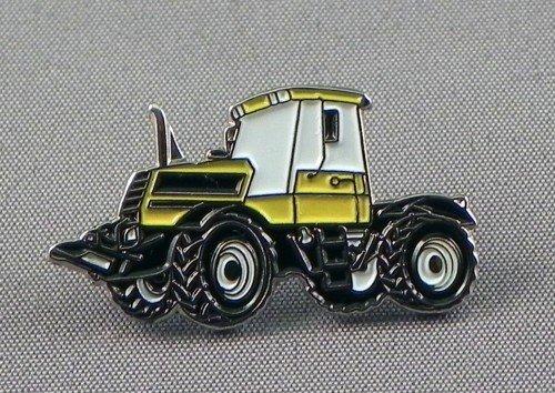 Broche en Métal Émaillé Terre tracteur Construction à roulettes Jaune