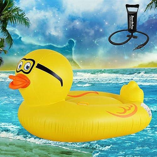 venderse como panqueques ZEDMA Colchoneta Hinchable Flotador Flotante Pato Pato Pato Gigante del Piscina Cama Flotante con Las válvulas para Adultos y Niños de la recreación del Agua  ahorrar en el despacho