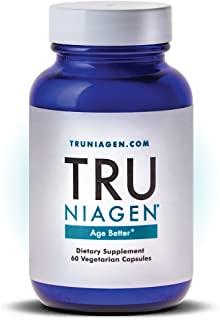 TRU NIAGEN Nicotinamide Riboside - Patented NAD Booster for Cellular Repair & Energy, 150mg Vegetarian Capsules, 300mg Per Serving, 30 Day Bottle