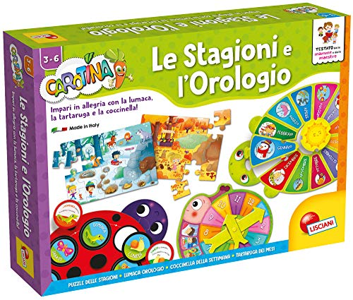 Lisciani Giochi 60221 - Gioco Carotina Maxi Le Stagioni e l'Orologio
