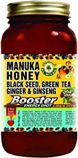 Manuka Honey Black Seed Green Tea Ginger Ginseng Honey Immune System Booster 16 OZ