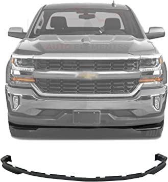 Amazon Com New Front Lower Valance Air Deflector Textured Plastic For 2016 2018 Chevrolet Silverado 1500 All Cab Types Direct Replacement Gm1092250 Automotive