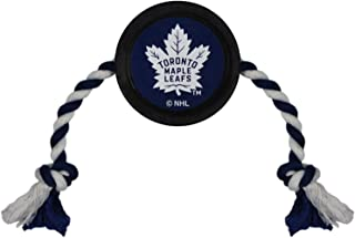 NHL TORONTO MAPLE LEAFS PUCK TOY for DOGS & CATS. Play Hockey with your Pet with this Licensed Dog Tough Toy Reward!