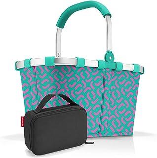 reisenthel, Set aus carrybag BK, thermocase OY, SBKOY, Einkaufskorb mit Kleiner Kühltasche, Signature Spectra Green + Black