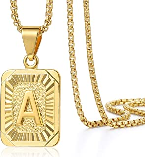 mens gold initial necklace