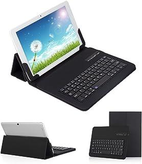 【Ewin】9.7~10.1インチ タブレットキーボードケース キーボード分離可能 Bluetooth 3.0四段階調整可能 スタンド機能付きブルートゥースキーボード カバー keyboard case for 9.7-10.1 inch ta...