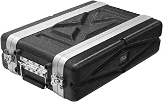 Seismic Audio - SALWR2S - Lightweight 2 Space Compact ABS Rack Case - 2U PA DJ Amp Effects Shallow Rack Case