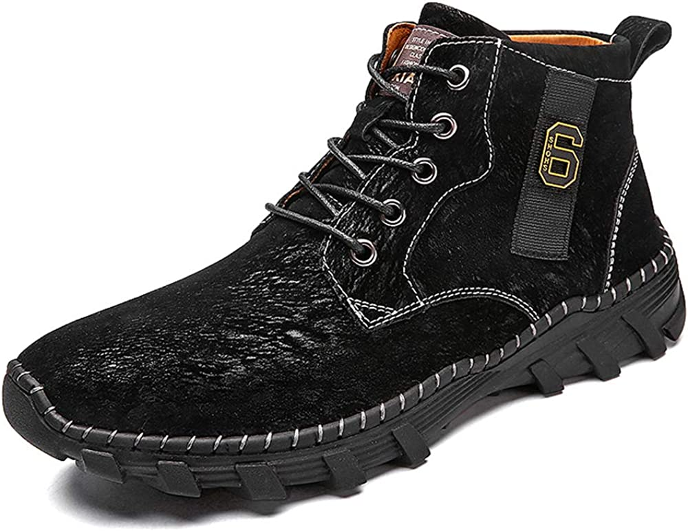 Dacomfy Shoes Men Casual Chukka Boots for Men Hand Stitching Comfortable Lace-up Vintage Wide Oxford For Male Fashion