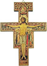 Religious Art Saint Francis of Assisi San Damiano Wooden Wall Cross, 8 Inch