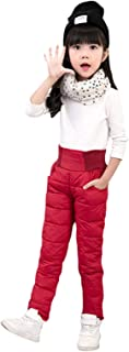 Janly Clearance Sale Niños Niños Niños Bebé Niños Niñas Sólido Invierno Cálido Pantalones de Chándal de Cintura Alta